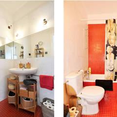 Rehabilitación y adecuación de un piso en Barcelona: Baños de estilo  de JSV-Architecture