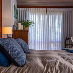 غرفة نوم تنفيذ Patrícia Nobre Interiores