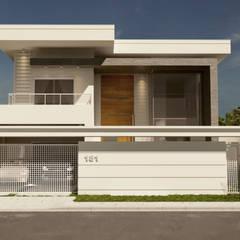 Nhà có sân thượng by Gelker Ribeiro Arquitetura | Arquiteto Rio de Janeiro