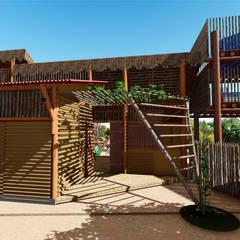 Fachada entrada: Hotéis  por Jordana Sá Arquitetura