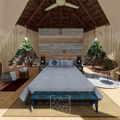 Suíte Barraca: Hotéis  por Jordana Sá Arquitetura