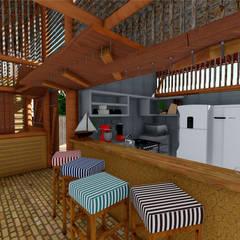 Hoteles de estilo  por Jordana Sá Arquitetura