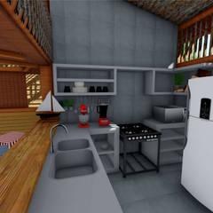 Cozinha: Hotéis  por Jordana Sá Arquitetura
