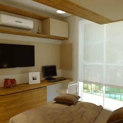 Projeto Arquitetura de interiores  | Reforma Apartamento: Quartos  por Gelker Ribeiro Arquitetura | Arquiteto Rio de Janeiro,Moderno Derivados de madeira Transparente