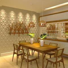 Projeto Arquitetura de interiores  | Reforma Apartamento: Salas de jantar  por Gelker Ribeiro Arquitetura | Arquiteto Rio de Janeiro,Moderno
