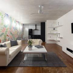 sala/comedor: Salas de estilo  por studio arquitectura   Despacho de arquitectos   Cancún