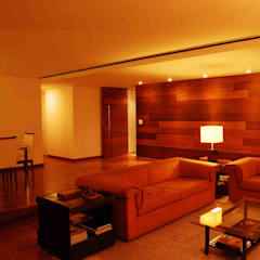 Residência Grimblat: Salas de jantar  por palatnic arquitetura,Campestre
