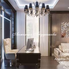 Дизайн дома в стиле арт-деко в КП «Миллениум Парк» : Рабочие кабинеты в . Автор – Дизайн-студия элитных интерьеров Анжелики Прудниковой