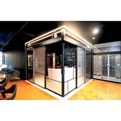 위드지스 청주전시장: WITHJIS(위드지스)의  서재 & 사무실
