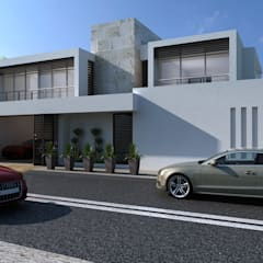 BEACH HOUSE: Casas multifamiliares de estilo  por OLLIN ARQUITECTURA
