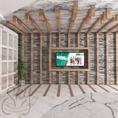 SKY İç Mimarlık & Mimarlık Tasarım Stüdyosu – Showroom Tasarımı:  tarz Giyinme Odası