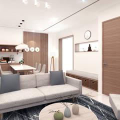 Living Room View:  Ruang Keluarga by JRY Atelier