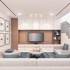 Living Room:  Ruang Keluarga by JRY Atelier