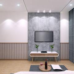 Scandinavian style bedroom by JRY Atelier Scandinavian Plywood