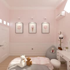 Girl Bedroom Make over @ West jakarta:  Kamar tidur kecil by JRY Atelier