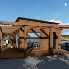 Modelo | T3 127m²: Casas de madeira  por Discovercasa | Casas de Madeira & Modulares