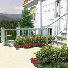 konseptDE Peyzaj Fidancılık Tic. Ltd. Şti. – K. A. Konutu Peyzaj Projesi:  tarz Bahçe