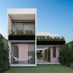 Casa López: Casas de campo de estilo  por Obed Clemente Arquitectos