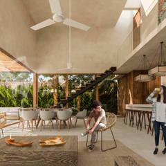 Comedores de estilo  por Obed Clemente Arquitectos