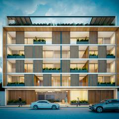 Nhà có sân thượng by Obed Clemente Arquitectos