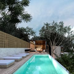 Infinity pool by Obed Clemente Arquitectos
