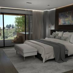 Small bedroom by Guindi Interiorismo