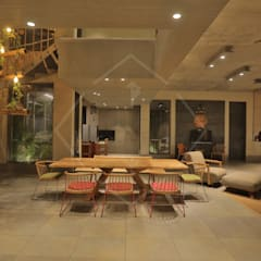 """""""WRAPED"""" ARCHITECTURE -:  Dining room by SPACCE INTERIORS"""