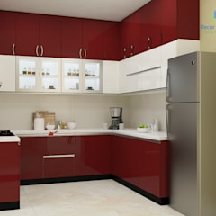 Valmark Aastha, 3 BHK - Mr. Anup & Ms. Harshitha:  Kitchen by DECOR DREAMS