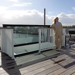 Amsterdam roof terrace - Glazed roof access hatch de Staka Premium Minimalista