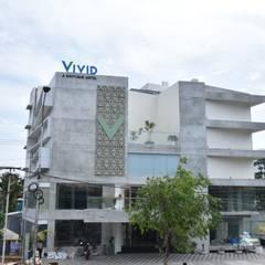 Vivid Hotel, Trichy:  Walls by Uncut Design Lab