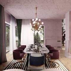 Столовая зона в доме: Столовые комнаты в . Автор – Premium Club