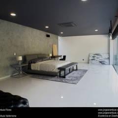 Casa N1: Recámaras de estilo  por Excelencia en Diseño