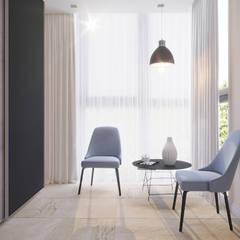 Дизайн интерьера двухкомнатной квартиры 78 кв.м. Омск.: Tерраса в . Автор – CUBE INTERIOR