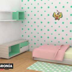 Propuesta de diseño alcoba : Habitaciones infantiles de estilo  por Sincronía Arquitectura y Diseño