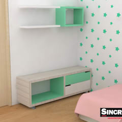 Diseño de mobiliario : Habitaciones infantiles de estilo  por Sincronía Arquitectura y Diseño