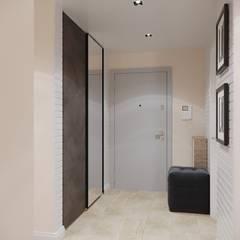 Дизайн интерьера двухкомнатной квартиры 78 кв.м. Омск.: Коридор и прихожая в . Автор – CUBE INTERIOR