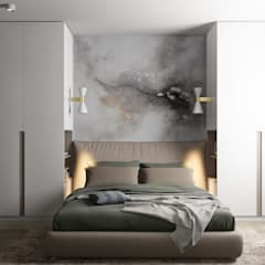 Двушка 56 кв.м. Ноябрьск: Спальни в . Автор – CUBE INTERIOR