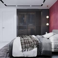 Двушка 88 кв.м. Тюмень: Спальни в . Автор – CUBE INTERIOR
