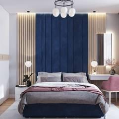 Дизайн - проект двухкомнатной квартиры 77 кв.м. Екатеринбург: Спальни в . Автор – CUBE INTERIOR
