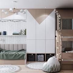 Дизайн - проект двухкомнатной квартиры 60 кв.м. Москва: Детские комнаты в . Автор – CUBE INTERIOR