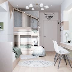 Nursery/kid's room by CUBE INTERIOR,