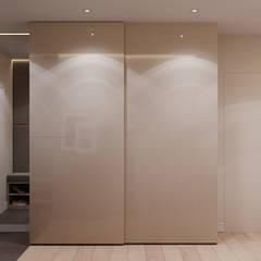 Дизайн - проект двухкомнатной квартиры 60 кв.м. Москва: Коридор и прихожая в . Автор – CUBE INTERIOR