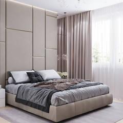 Дизайн - проект двухкомнатной квартиры 60 кв.м. Москва: Спальни в . Автор – CUBE INTERIOR, Скандинавский