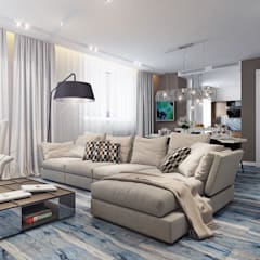 Barkod İç Mimarlık – Modern Living Room Design:  tarz Oturma Odası