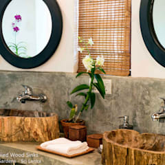 Petrified Wood Stone Sinks - Countertop - Hotel Bathroom:  Bathroom by Lux4home™ Indonesia