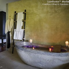 Stone Marble Bathtub - Marble Tub:  Bathroom by Lux4home™ Indonesia
