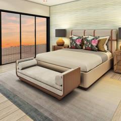 Casa de Campo : Dormitorios de estilo  por Luis Escobar Interiorismo