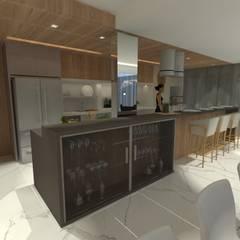 Casa TK - Jurere: Cozinhas embutidas  por Eduardo Schmidt Arquitetura e Interiores