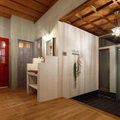 house-19(renovation): dwarfが手掛けた廊下 & 玄関です。