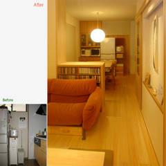 キッチン周辺 ビフォーアフター: 一級建築士事務所 ネストデザインが手掛けたキッチン収納です。
